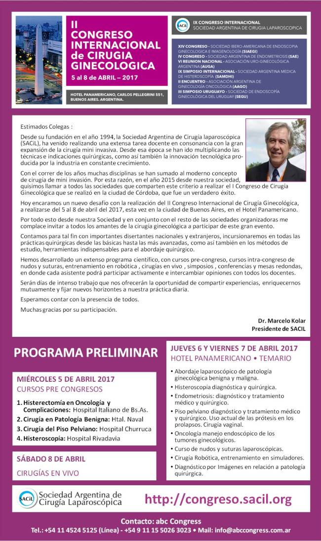 Flyer Congreso SACiL 2017